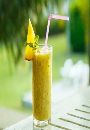 Pineapple Ginger Breakfast Fruit Smoothie Healthy Recipe