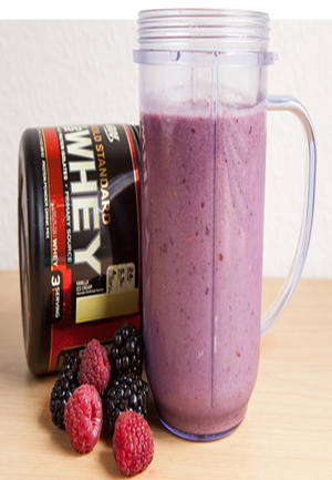 Raspberries and Blackberries Protein Smoothie Healthy Recipe