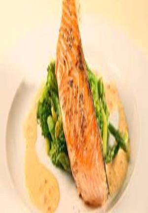 Roast Salmon and Broccoli with Chile-Caper Vinaigrette Healthy Recipe