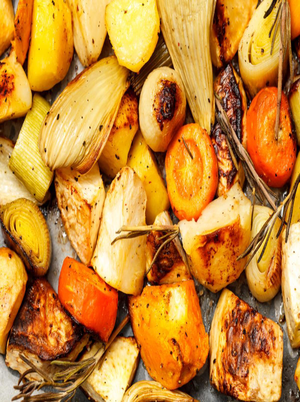 Roasted Fennel, Carrots, and Shallots Healthy Recipe