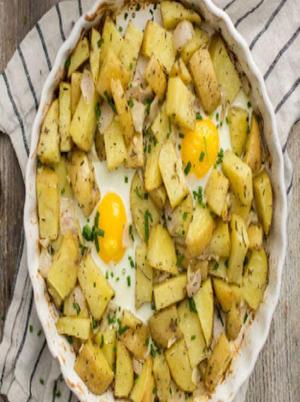 Rosemary Potato Egg Bake Healthy Recipe