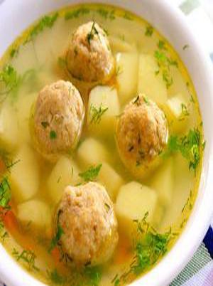 Russian Potato Soup with Meatballs Healthy Recipe