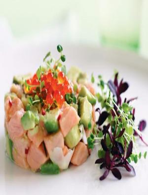 Salmon and Avocado Ceviche Healthy Recipe