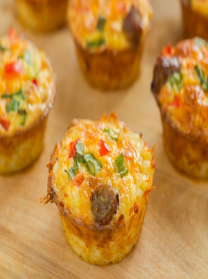 Sausage And Cheese Breakfast Cups Healthy Recipe