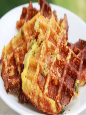 Savory Cheese Chive Waffles Healthy Recipe