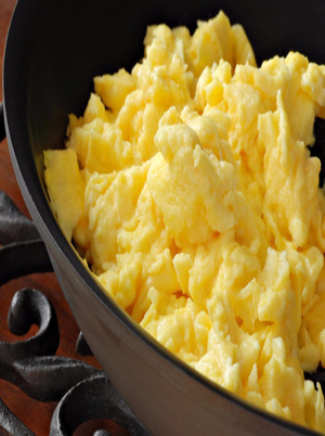 Scrambled Eggs with Cheddar Cheese Healthy Recipe