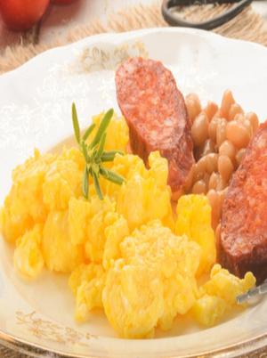 Scrambled Eggs with Chorizo  Healthy Recipe