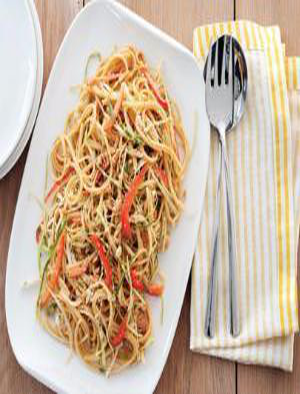 Sesame and Peanut Noodles Healthy Recipe