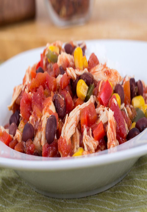 Slow cooker Spicy Chicken with Black Beans Healthy Recipe