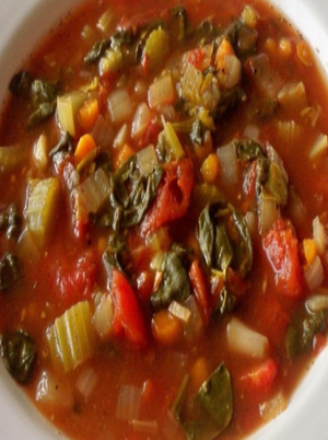 Slow-Cooker Spinach Tomato Vegetable Soup Healthy Recipe