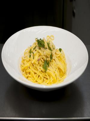 Spaghetti with Garlic and Basil Healthy Recipe