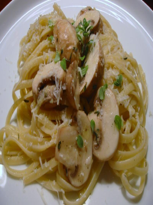 Spaghetti with Onion and Mushroom Healthy Recipe
