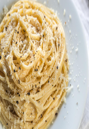Spaghetti with Pecorino Romano and Black Pepper Healthy Recipe