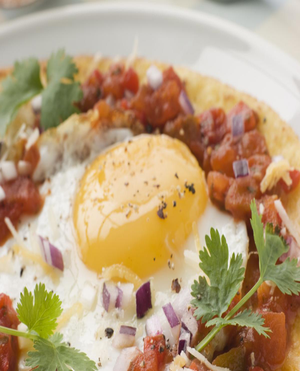 Spicy Fried Eggs Healthy Recipe