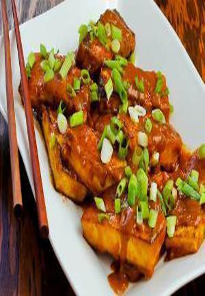 Spicy Vegan Peanut Butter Tofu with Sriracha Healthy Recipe