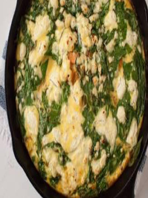 Spinach Frittata with Sweet Potato Crust Healthy Recipe