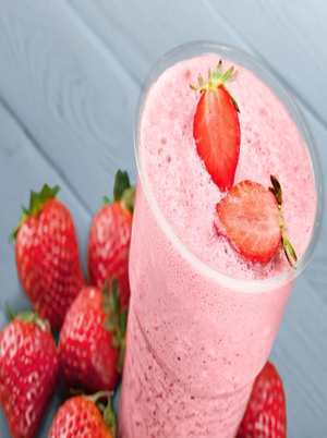 Strawberry Cottage Cheese Smoothie Healthy Recipe