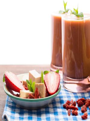 Strawberry Tofu Smoothie Healthy Recipe