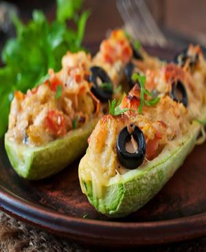 Stuffed Zucchini Healthy Recipe