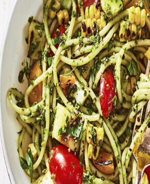Summer Pesto Pasta Healthy Recipe