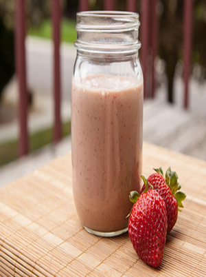 Sunrise Peanut Butter Berry Protein Smoothie Healthy Recipe