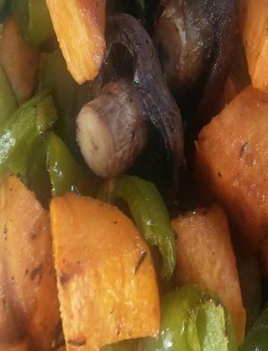Sweet Potato and Mushroom Hash Healthy Recipe