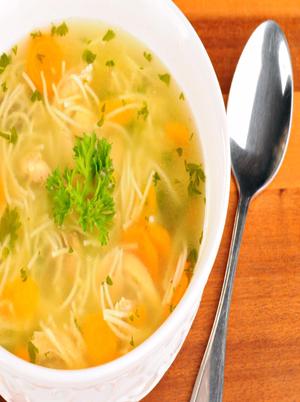 "Tofu ""Chik'n"" Noodle Soup Healthy Recipe"
