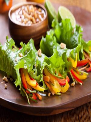 Tofu peanut lettuce wraps Healthy Recipe