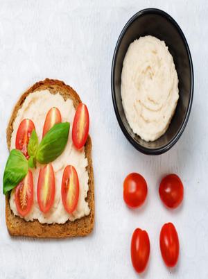 Tomato and Hummus on Rye Healthy Recipe