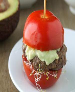 Tomato Avocado Burgers Healthy Recipe