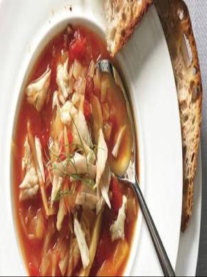 Tomato, Fennel, and Crab Soup Healthy Recipe