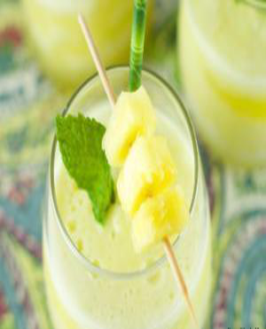 Tropical Mint Smoothie Healthy Recipe