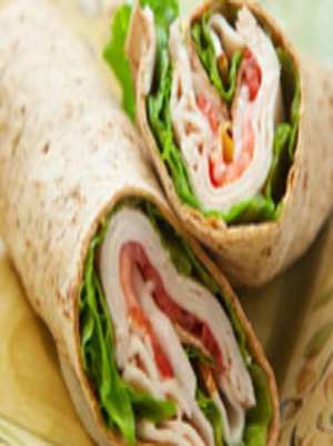 Turkey and Avocado Wrap Healthy Recipe