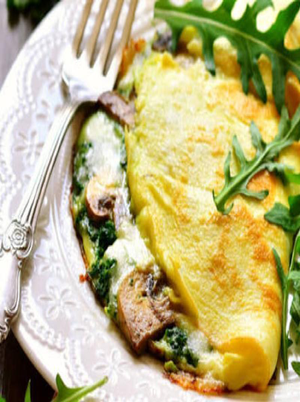 Turkey and Spinach Omelet Healthy Recipe