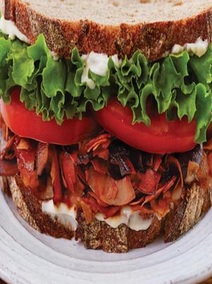 Turkey Bacon BLT Sandwich Healthy Recipe