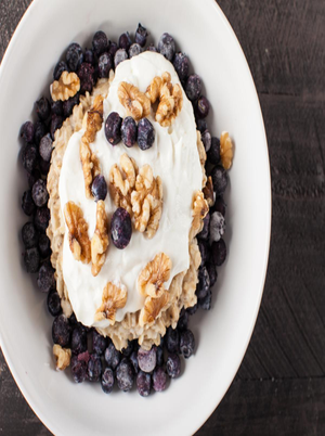 Vanilla Walnut Blueberry Yogurt Healthy Recipe