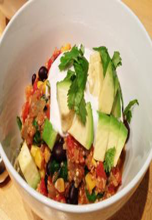 Vegan Oven-Baked Mexican Quinoa Casserole Healthy Recipe