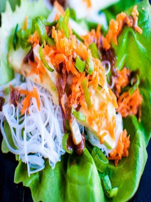 Vegetarian Thai Lettuce Wraps Healthy Recipe