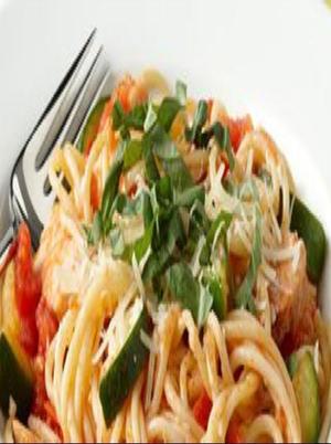 Veggie Spaghetti with Potato Sauce Healthy Recipe