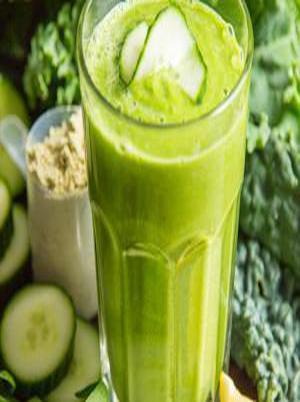 Very Green Veggie Protein Smoothie Healthy Recipe