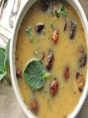White Bean and Roasted Mushroom Soup Healthy Recipe