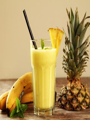Yogurt Banana-Pineapple Smoothie Healthy Recipe