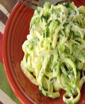 Zucchini Alfredo Healthy Recipe