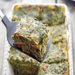 Cauliflower Noodle Spinach Lasagna