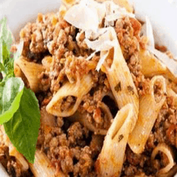 Pasta with Mince Meat Sauce
