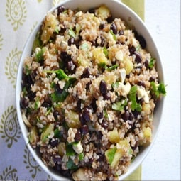 Pineapple, Black Beans, and Couscous