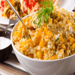 Quinoa with Corn, Scallions, and Mint