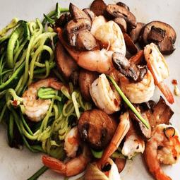 Shrimp and Mushroom Zoodles