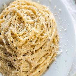 Spaghetti with Pecorino Romano and Black Pepper